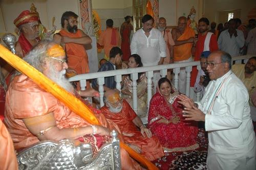 congress leader digvijay singh swami swarupanand ji